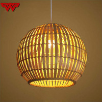 Nordic simple chandelier creative table lamp farmhouse tea house bamboo art bamboo lamps Chinese restaurant round chandelier