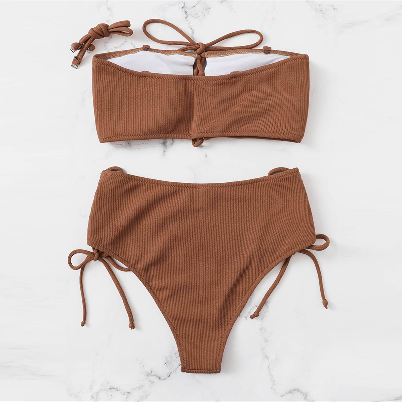 Top With Lace-up Bottoms Bikini Set 7