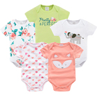 baby bodysuits clothes girl boy 5 PCS/lot baby clothing extenders jumpsuit newborn 0 3 6 9 months cotton costume baby bodysuit
