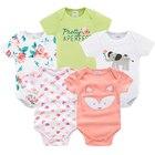 baby bodysuits clothes girl boy 5 PCS/lot baby clothing extenders jumpsuit newborn 0 3 6 9 months cotton costume baby bodysuit
