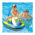 Nova intex 117*77 centímetros barco inflável da água jogo da praia do verão natação kickboard piscina rider rider animal bebê criança brinquedo jogo de esporte