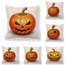 45cm*45cm Cushion cover Halloween Pumpkin linen/cotton pillow case sofa and Home decorative pillow cover good mood watercolor circle with cross cotton and linen pillow case(without pillow inner)