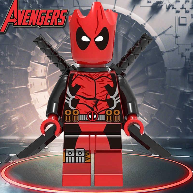 Marvel colosso super heróis blocos de construção mortos piscina vingadores 3 infinito guerra tijolos ação modelo figuras brinquedos para crianças