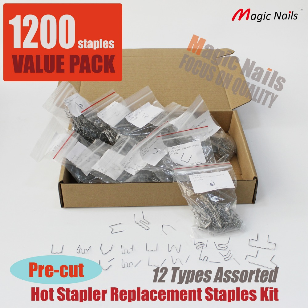hot stapler plastic bumper repair kit car replacement staples stainless steel welding wire clips auto bracket weld pin fixing