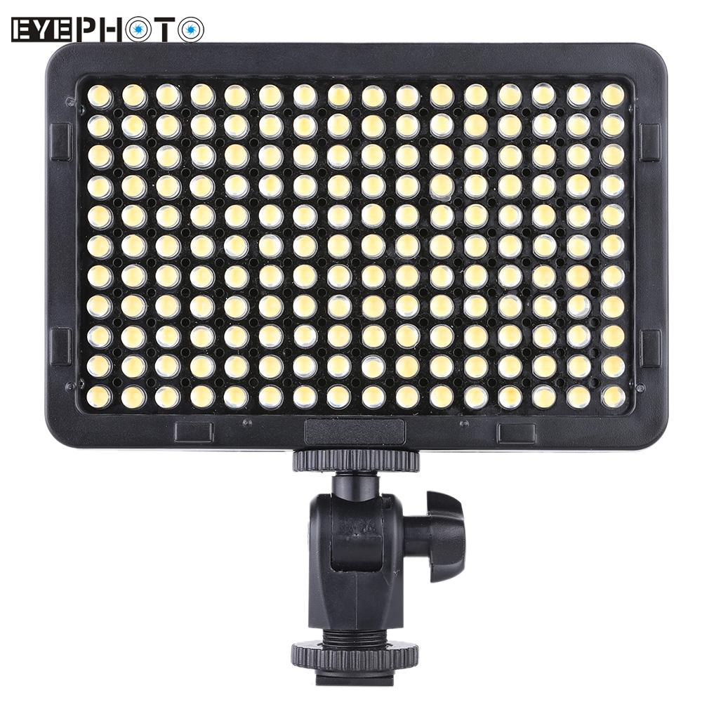 Prix pour PT-176S 176 LEDs 5600 K Portable LED Vidéo Panneau Lumineux Lampe Éclairage Photographique pour Canon Nikon Pentax Olympus DSLR Camera