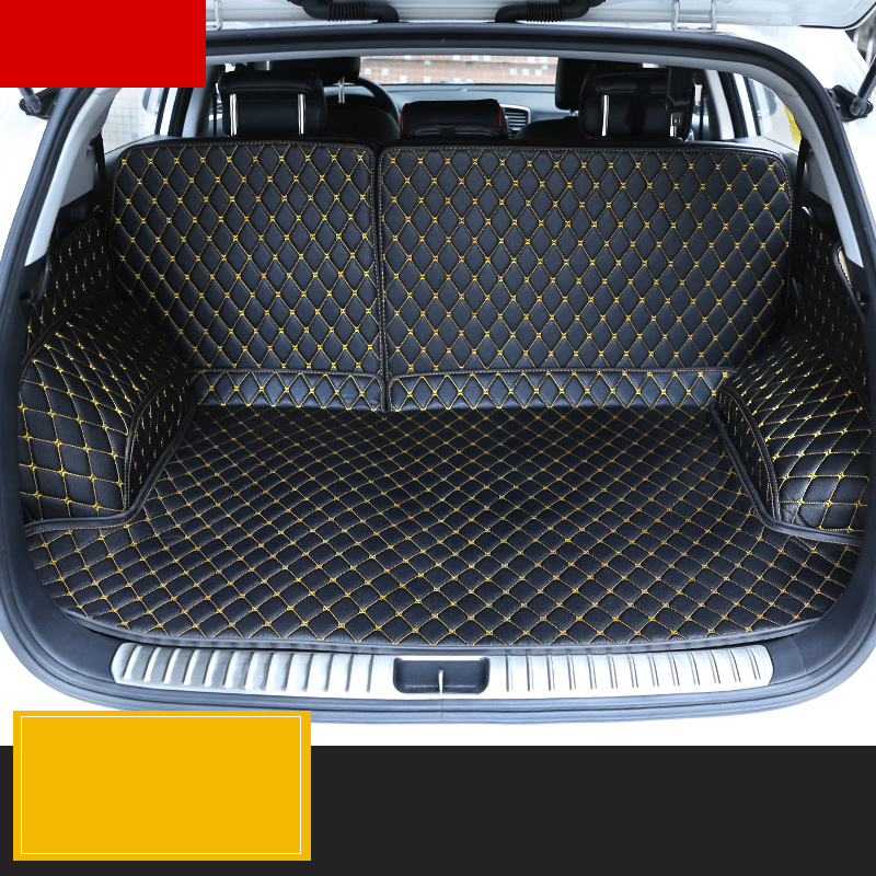 2017 Kia Sportage Accessories >> lsrtw2017 fiber leather car trunk mat for kia sportage 2016 2017 2018 2019 QL-in Interior ...