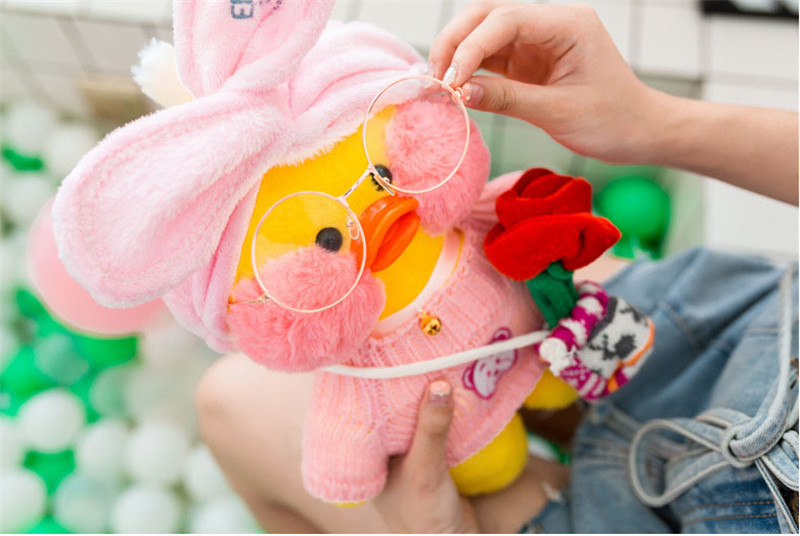 Lalafanfan Plush Stuffed Toys Doll Kawaii Cafe Mimi Yellow Duck lol Change Clothes Plush Toys Girls Gifts Toys for Children 3