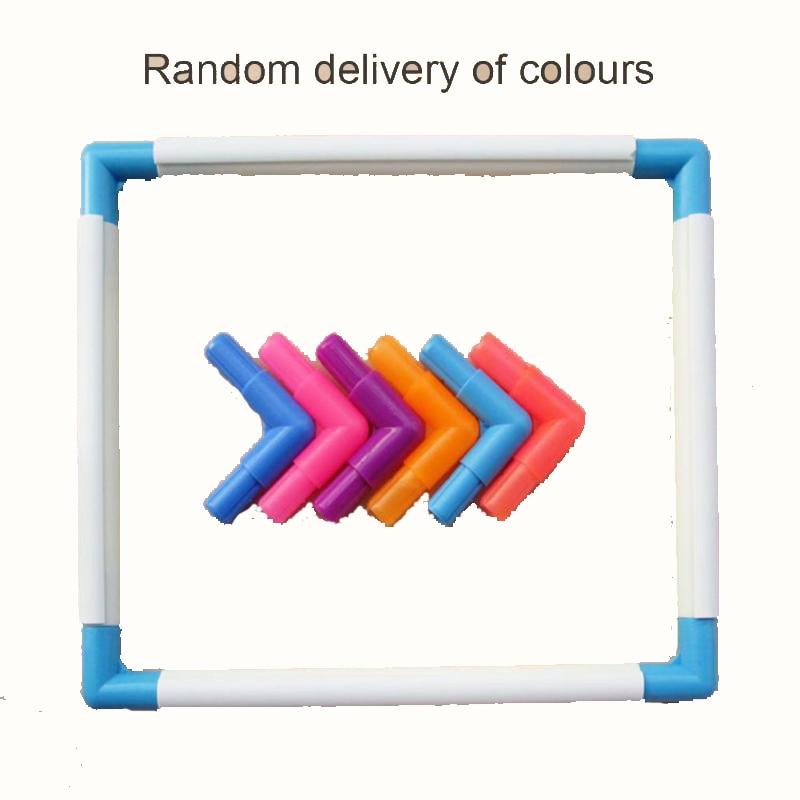 US $6.85 25% СКИДКА|Сделай Сам, квадратная рамка для вышивки, пластиковый обруч для вышивки, цветная рамка для вышивки крестиком, инструменты для вышивки крестиком|Швейные инструменты и аксессуары| |  - AliExpress