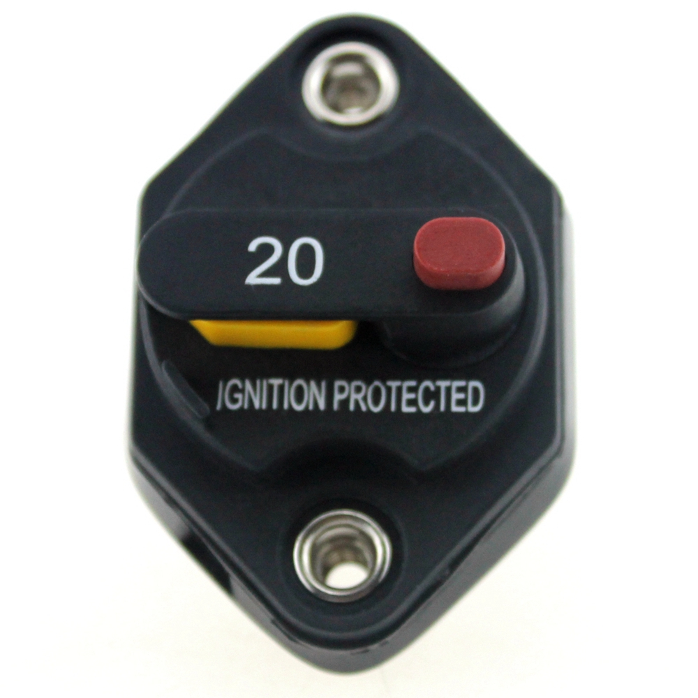 32v dc 20 amp car truck rv bus ship manual reset circuit breaker marine fuse box accessories [ 1000 x 1000 Pixel ]