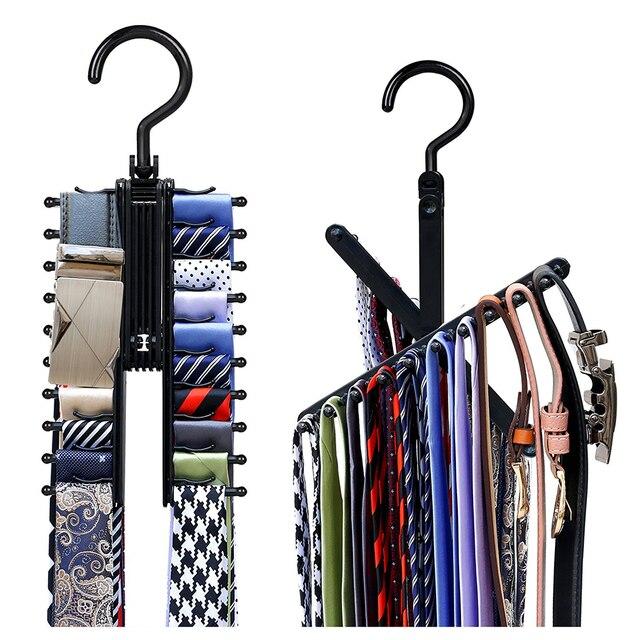 NEW Afordable Necktie Cross Hanger Compact Closet Organizer Adjustable  Criss Cross Design Black