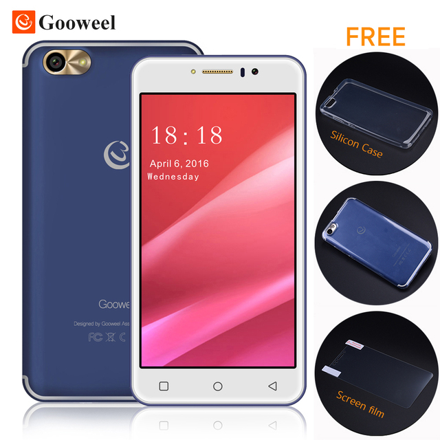 Gooweel М7 Смартфон 5.5 дюймов IPS экран MTK6580 quad core 3 Г сотовый телефон 1 ГБ RAM 8 ГБ ROM Мобильный телефон 8.0MP Камера Бесплатно подарок
