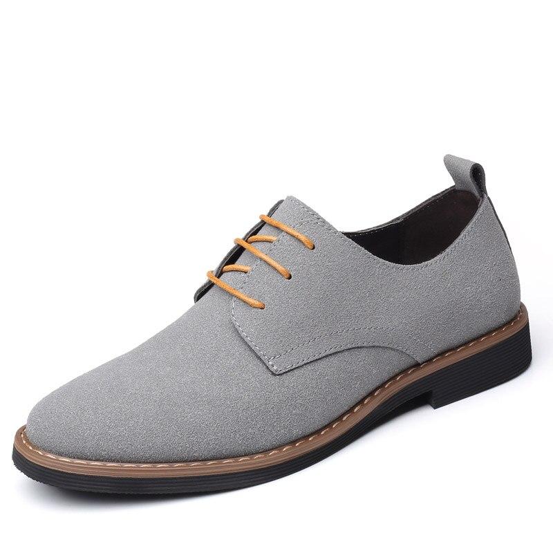 Grey men flats