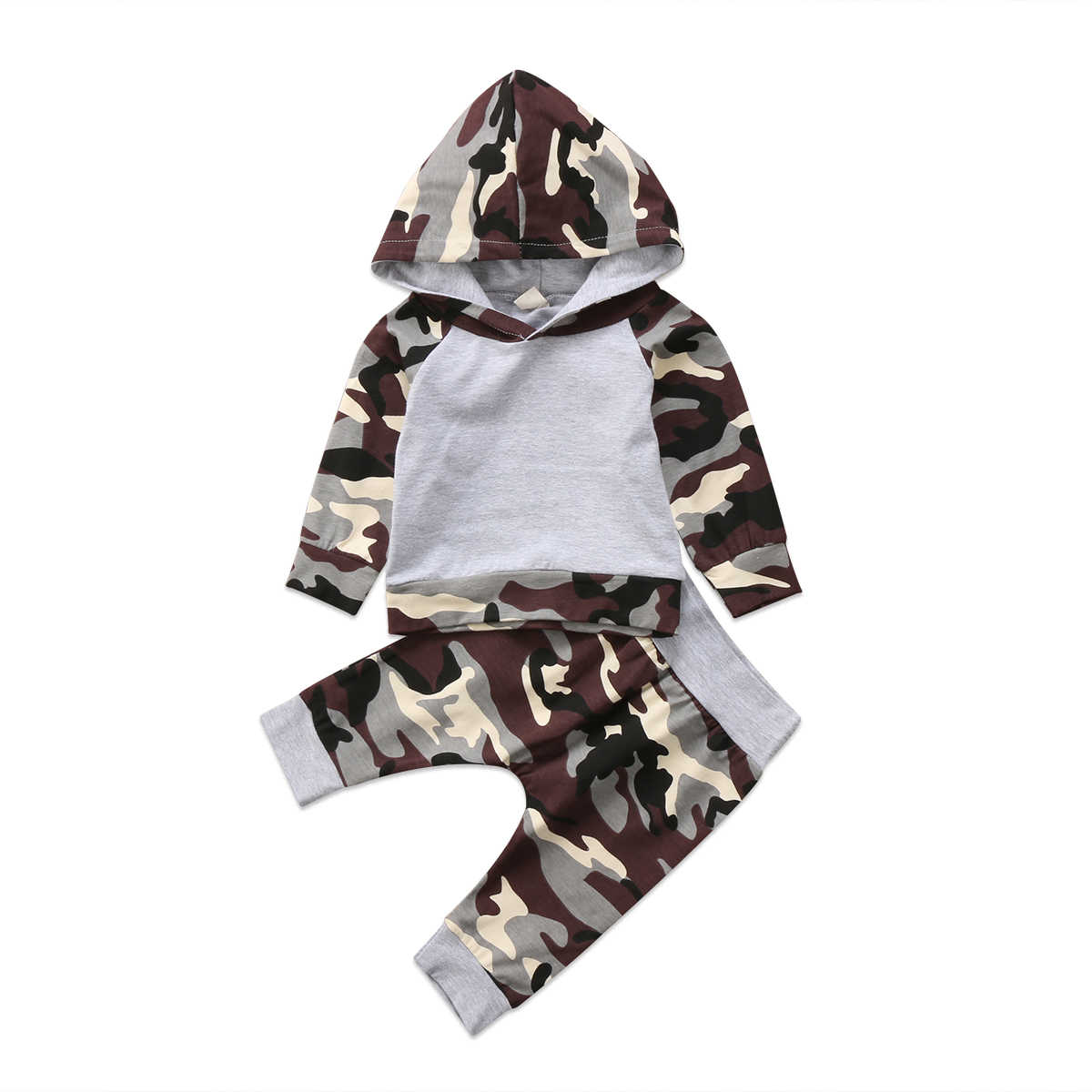 b3d3c92d591f8 Detail Feedback Questions about 2Pcs Newborn Toddler Baby Clothes Set Army  Green Baby Boys Camo Hoodie Tops Pants Outfits Set Clothes 0 24M on ...