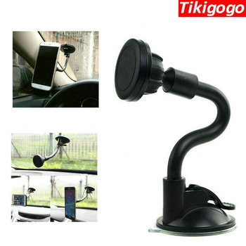 Tikigogo Nice Mobile Phone Magnet Holder Car Windshield Soft Tube Magnetic Car Phone Holder Stand Mount for Smartphone gps ... Лобовое стекло
