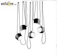 Dia 24 Cm Black White Aluminum Modern Showcase Lighting Scandinavian Design Cafe Bar Restaurant Pendant Lamp