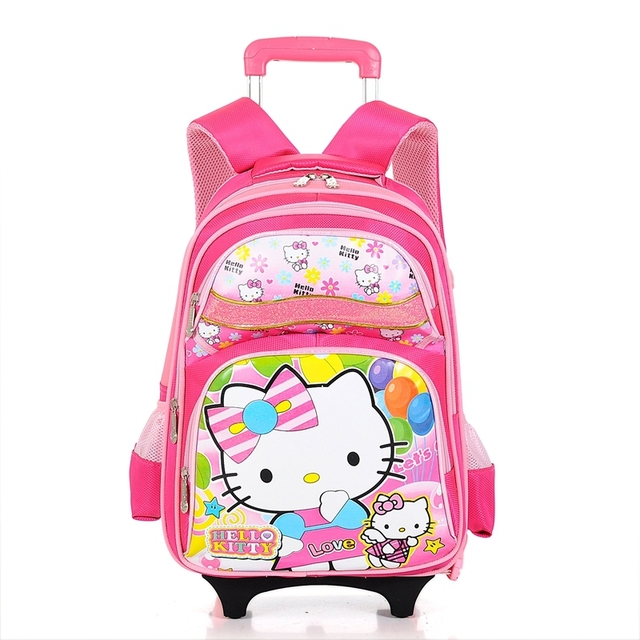 7407269a3d Hello Kitty Hello Kitty KT children s school bags trolley bags grade 1-6  pupils sent Covers