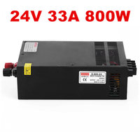 5pcs Industrial grade power supply 800W 24V Power Supply 24V 33A AC DC High Power PSU 800W S 800 24
