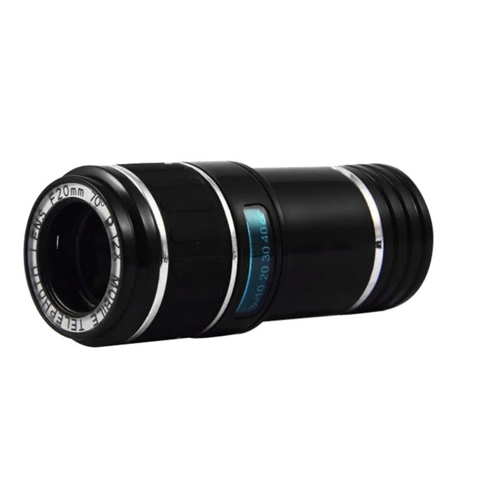 8d1a47b5093d6b Universal 12X Zoom Optical Mobile Phone Telescope Long Focus Monocular 12  Times Zoom Camera Clip Lens For iPhone For Android-in Mobile Phone Lenses  from ...
