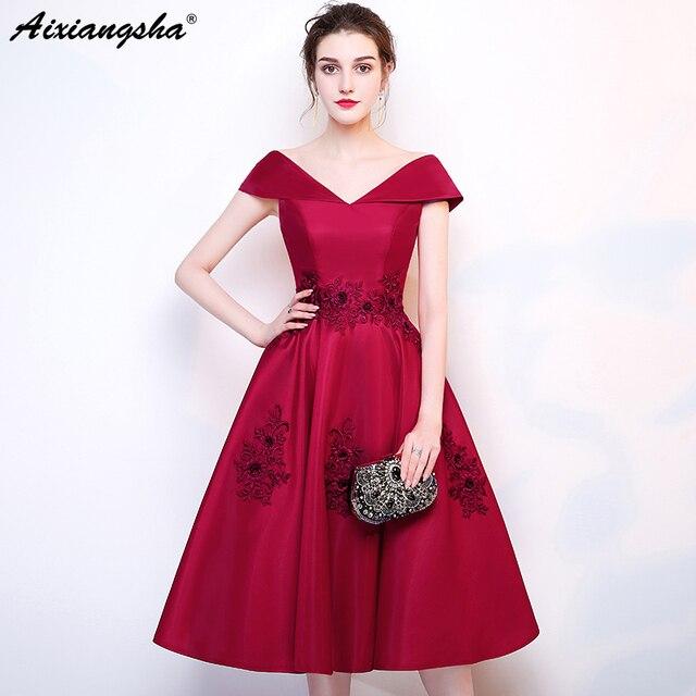965db9f899c Simple Prom Dresses 2018 Appliques Elegant Prom Dress Short vestido de festa  longo gala jurken vestido longo Plus Size