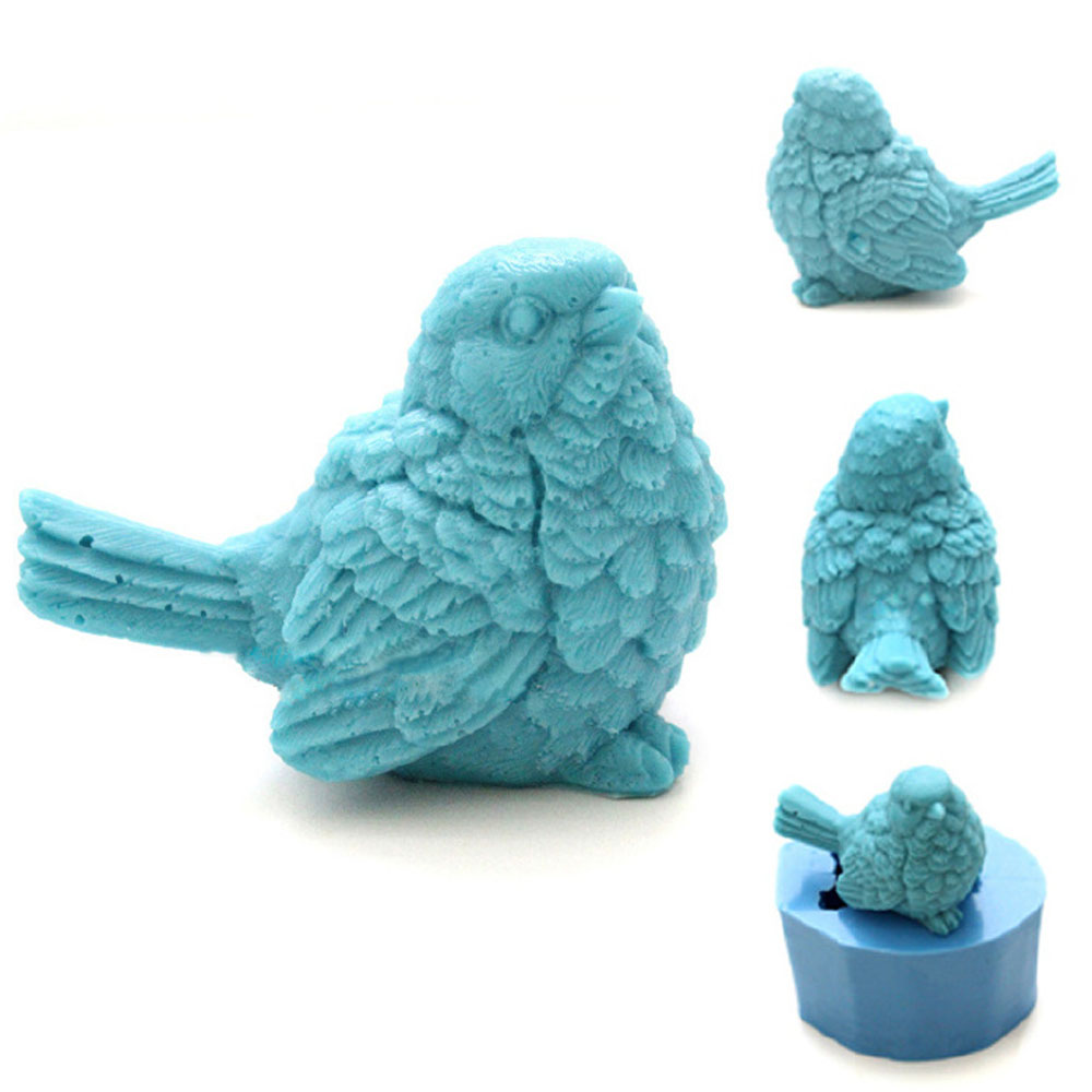 Grainrain 3D Lovely Bird Soap Mold Silicone Mold Soap Mould Candle Mold Resin Mold