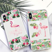 Classic Luxury Flamingo Quotes Phone Case For iPhone Xs 6 6s 7 8 Plus XR MAX SE 5 5s Transparent Soft Silicone Cover