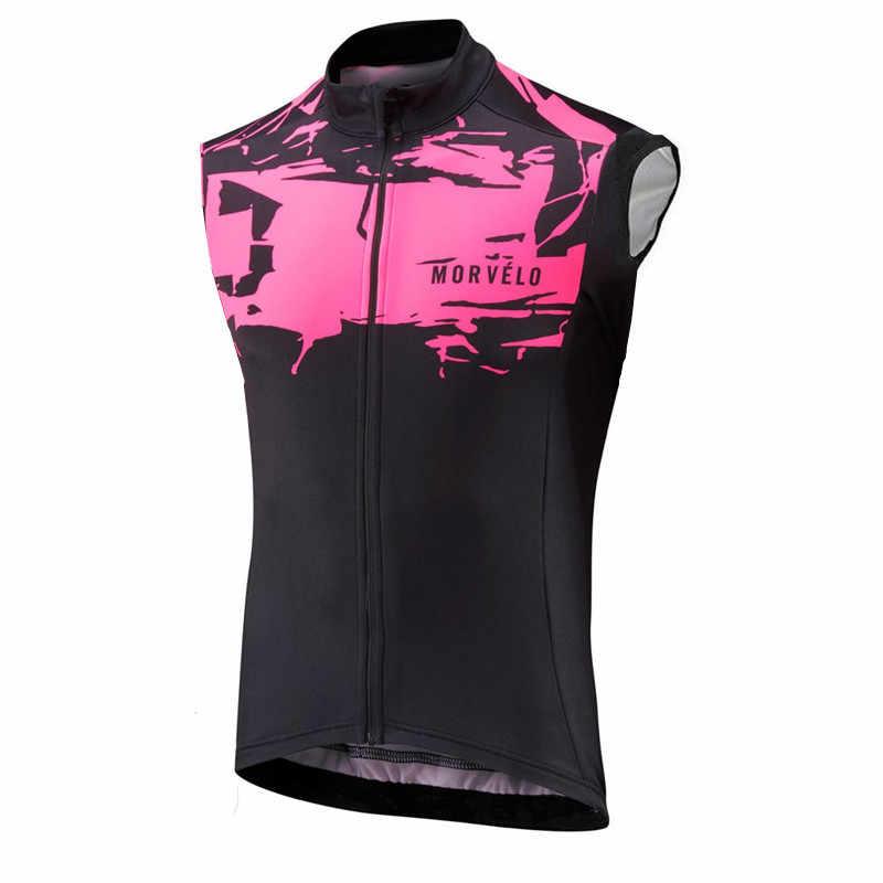 Morvelo夏男性サイクリングジャージーdhシャツノースリーブサイクリングベスト/自転車バイク衣類/ropaジレciclismoサイクルジャージ男性