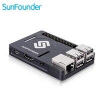 SunFounder Raspberry Pi 3 2 1B Enclosure Metal Case With Heat Dissipation Silica Pad Raspberri Pi