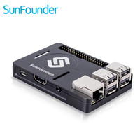 SunFounder Raspberry Pi 3 2 B Enclosure Metal Case With Heat Dissipation Silica Pad Raspberri Pi