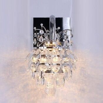 1 pcs Bedside Led Bar Crystal Lamp  LED Wall Light For Home Living Room Bedroom New Single Aisle Simple Modern Crystal Wall Lamp
