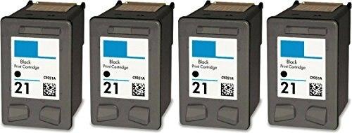 ФОТО 4PK Compatible for HP21 21xl Black ink Cartridge for HPDeskjet F2100 F2280 F380 F4100 F4180 D1530 D1320 D1311
