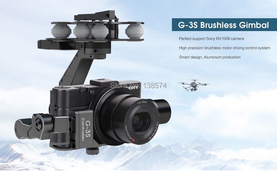 Walkera G-3S 3 axis Brushless Gimbal For Sony RX100 II camera ...