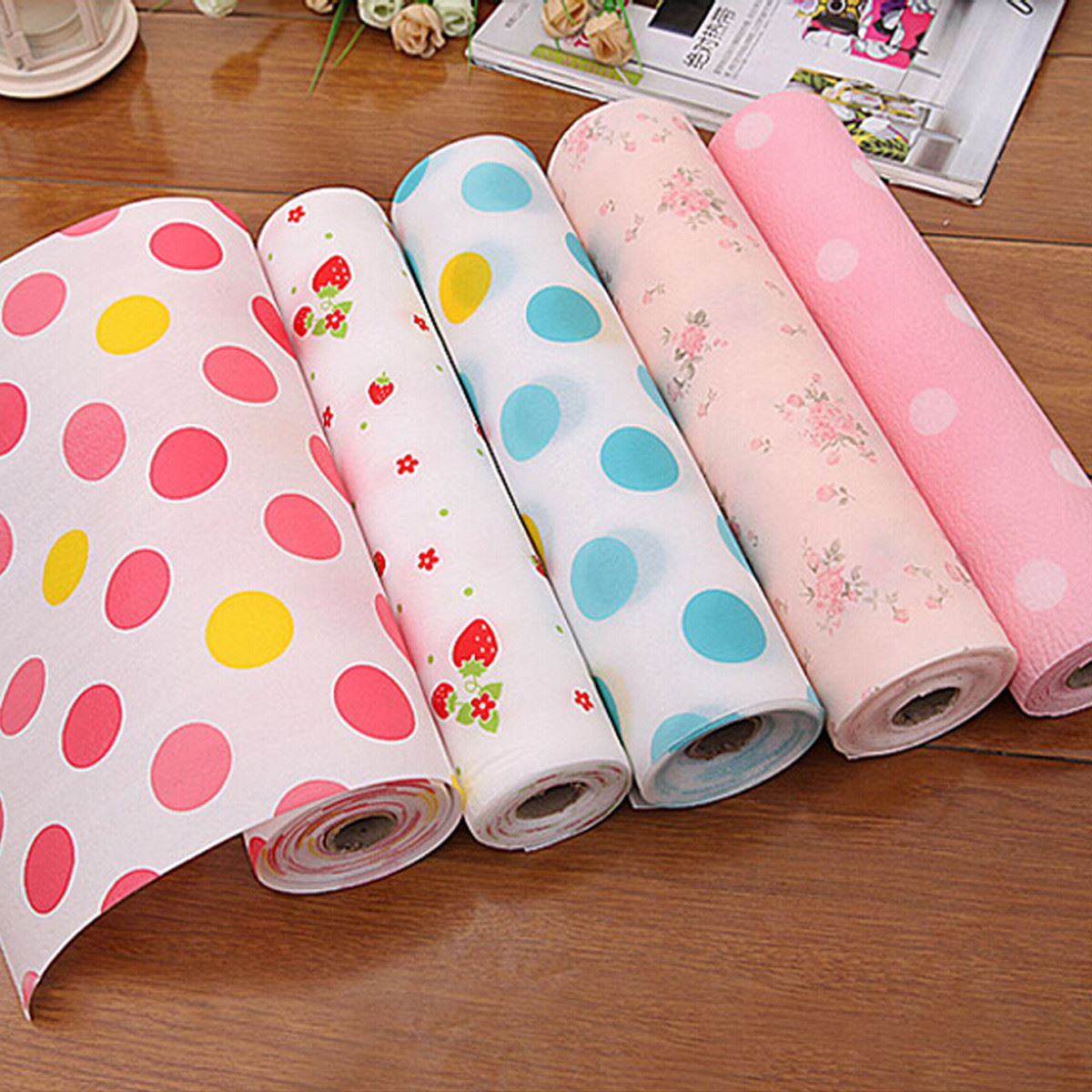 Aliexpresscom Buy 2016 New Color Dot Contact Paper Kids Drawer . Kitchen  Cabinet Paper Liner ...