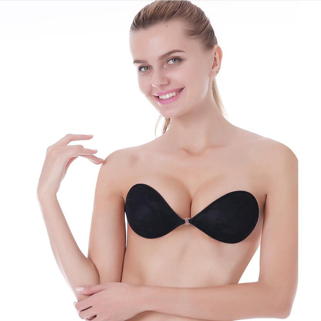 dbb8e4004e8ac Fly Bra Sexy Push Up Bra Silicone Lace Bralette Invisible Bra Sujetador  Soutient Gorge Brasier Mujer BH Strapless Bras For Women