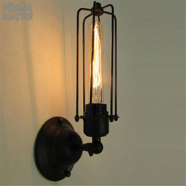 Free shipping e27 retro rural industries pub wall lights wall edison free shipping e27 retro rural industries pub wall lights wall edison light bulb restaurant beside wall mozeypictures Image collections