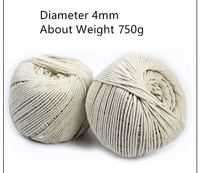 Cord, string. 4MM Cotton rope thick cotton DIY retro decorations outdoor clothes drying tied rope twine rope