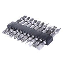 10pcs/set 1/4 inch 65mm Hex Shank Anti Slip Electric Screwdriver Bit Set Multi Tool for Cordless Drills Electric Screwdrivers(China (Mainland))