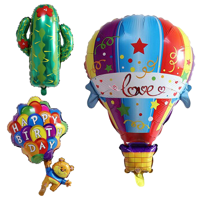 Birthday Party Decoration Adult Kids Gifts Balloon Cute Cat And Happy Bear Bulldog For Baby Shower
