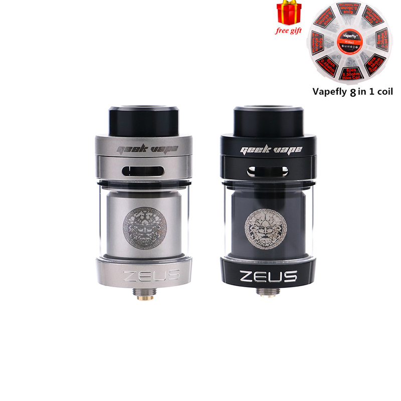 Free gift Original Zeus dual RTA Geekvape Zeus Dual coil 5.5 ml RTA zeus atomizer leak proof top airflow system E Cigarette стяжка zeus za521