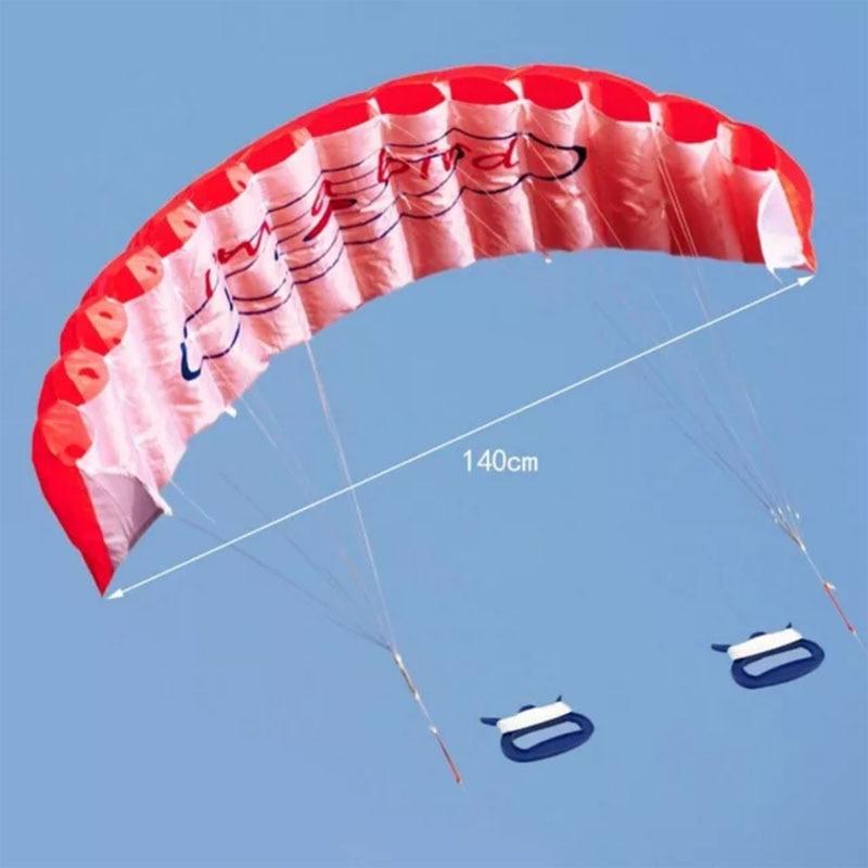 Free Shipping Outdoor Fun Sports Power Dual Line Stunt Parafoil Parachute Rainbow Sports Beach Kite For Beginner