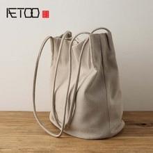 AETOO 2017 new Original retro cotton linen handbag women fresh style high quality shoulder bag large capacity
