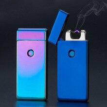 Thunder USB Aansteker Oplaadbare Elektronische Sigaret Accessorie Torch Plasma Sigaar Arc Palse Lichter Puls Windaansteker