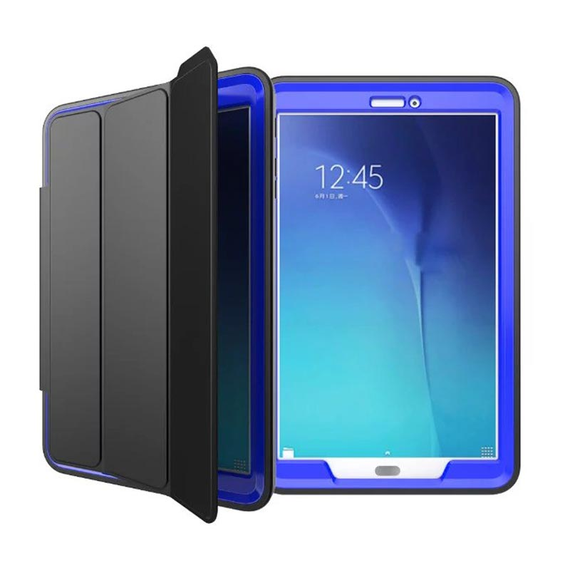 NEW luxury Flip stand Covers For Samsung Galaxy Tab E 9.6 SM T560 T561 Fashion Shockproof Hard Military Duty hybrid Hard Case