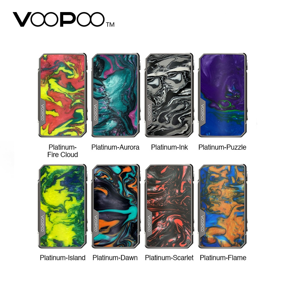 Original 177W VOOPOO Drag 2 Platinum Mod vs Drag 2 Box MOD No 18650 Battery Vape