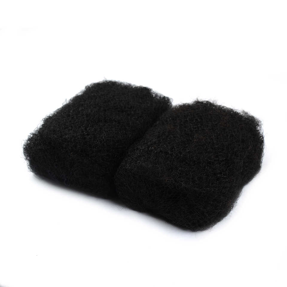 IEnvy Jet черные бразильские волосы афро кудрявые объемные волосы для плетения цветных 1 без пучок натуральных волос Плетение Canbe Restyle Nonremy