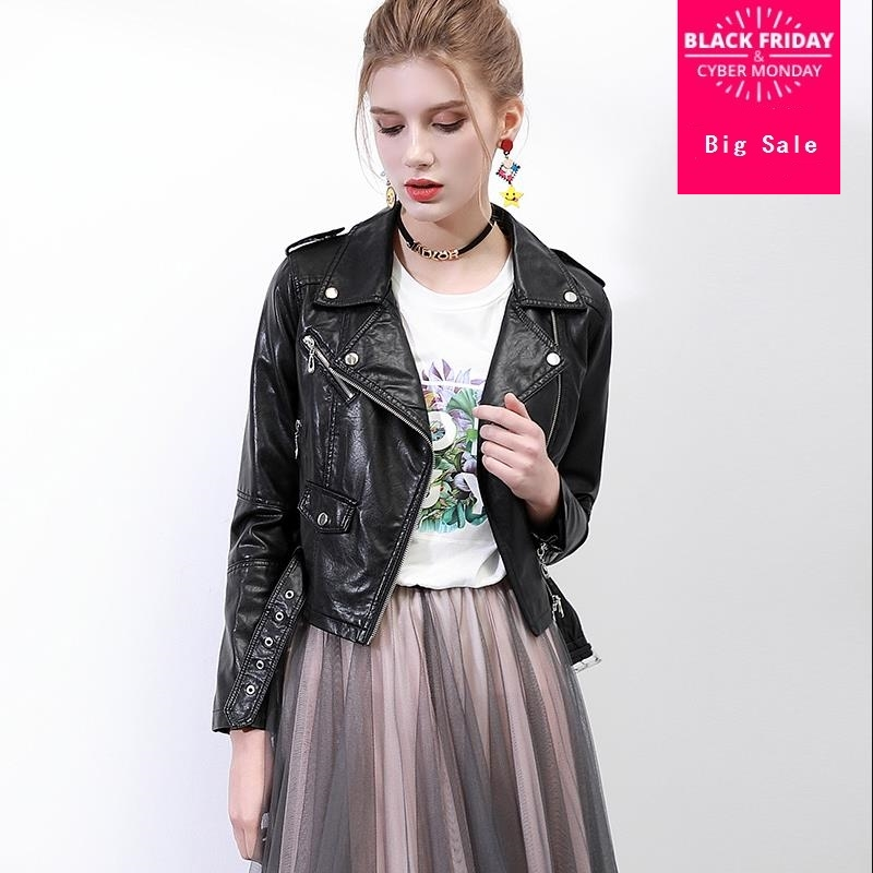 Fashion brand british style great quality pu   leather   jacket Women's great quality short   Leather   Jacket with belt wq405 dropship