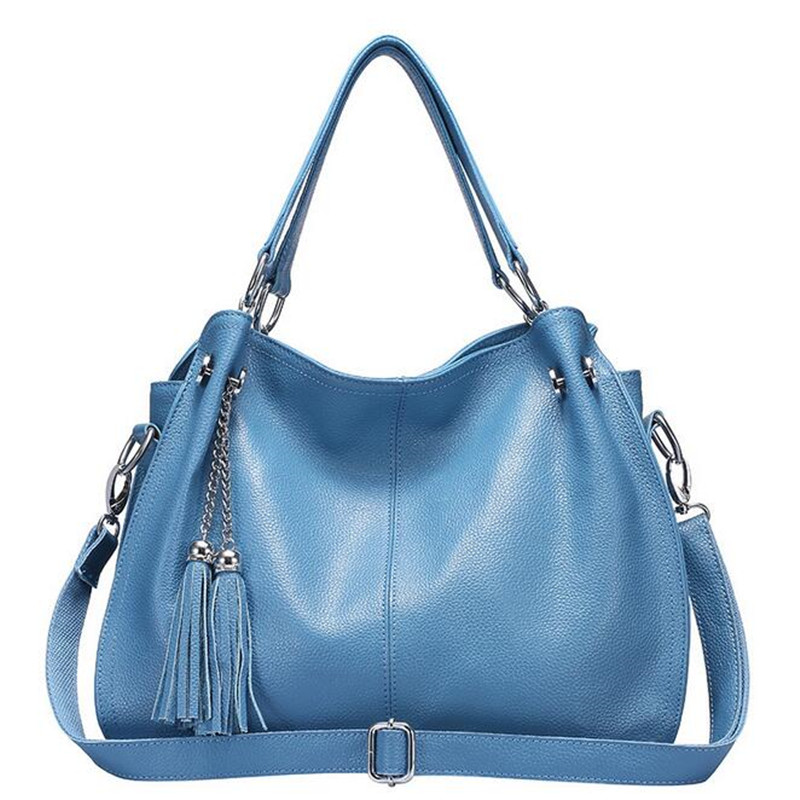 Ladies bag new fashion designer women cow split leather handbag high quality tassle shoulder bags tote messenger bag fashion matte retro women bags cow split leather bags women shoulder bag chain messenger bags