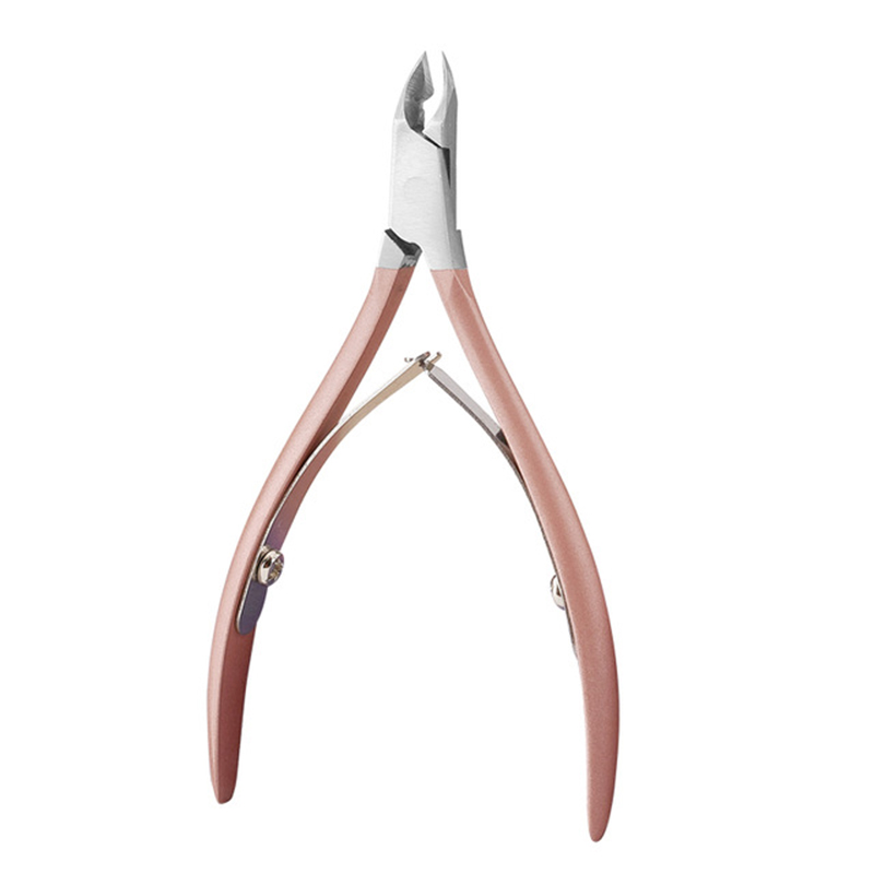 Nail Cuticle Pusher Tweezer Cutter Nipper Clipper Dead Skin Remover Manicure Art Grooming Tool Beauty Nail Pliers Pink