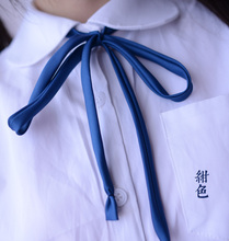 Meng Meng Da Thin strips Smooth collar rope Japanese high school uniform neck rope JK uniform cute kawaii collar bow tie цена и фото