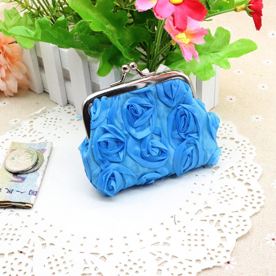 Fashion Women's Coin Purse Linen Rose Flowers Hasp Small Wallet Change Pouch Key Card Holder Clutch Handbag Wholesale #Y 2017 new mini bag leather coin purse header key wallet money card holder change wallet pouch change purse wholesale high quailty