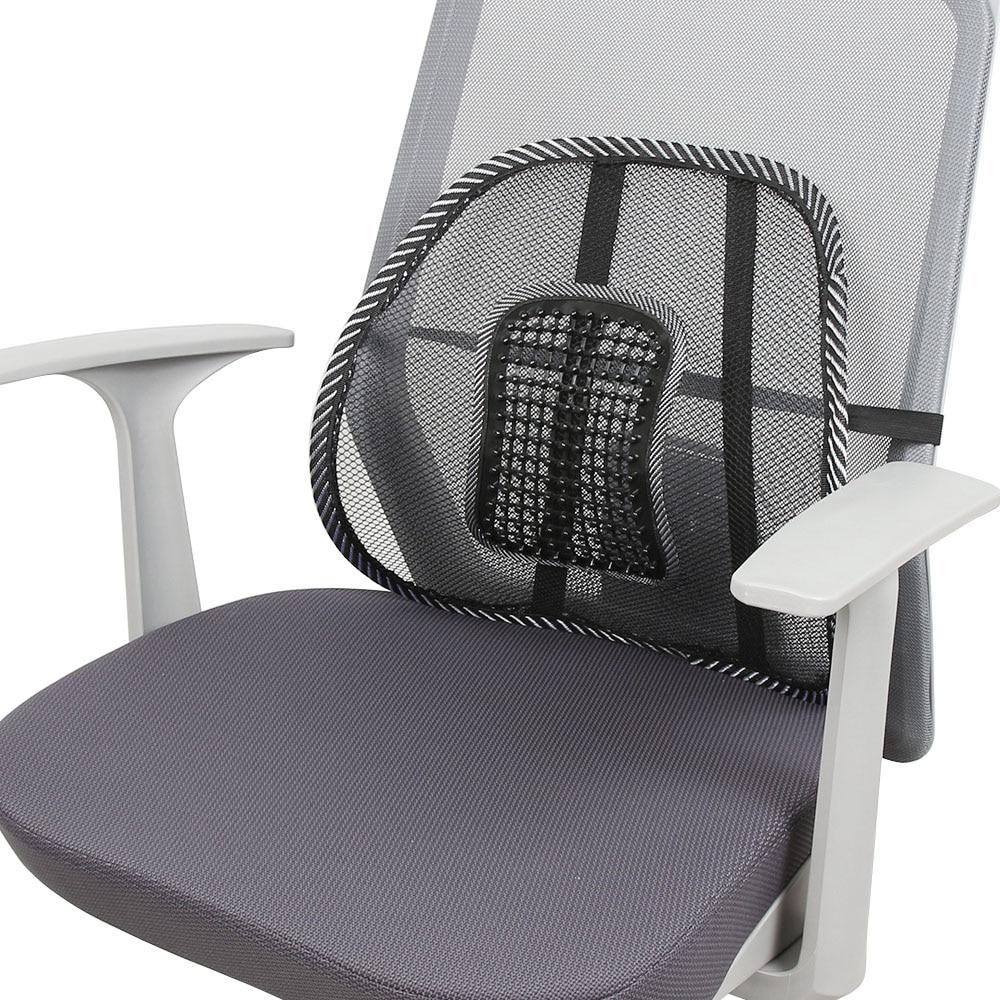 Black moon chair - 1pcs Black Mesh Lumbar Back Brace Support Office Home Car Seat Chair Cushion Cool